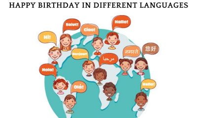 Happy Birthday in Different Languages