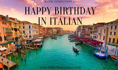 Happy Birthday in Italian