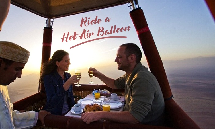 Hot Air Balloon Ride With Your Boyfriend