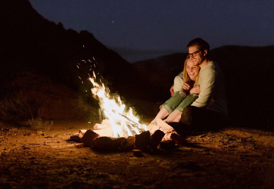 Romantic Bonfire with Boyfriend