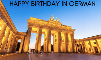 Happy Birthday in German