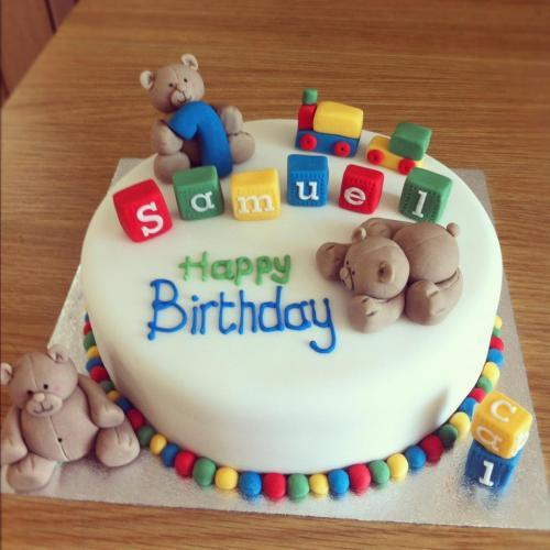 1st birthday cake design images